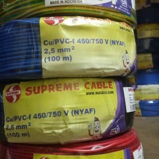 Jual kabel listrik serabut nyaf 2,5mm supreme roll 100m