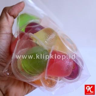 Jual 12x20cm plastik kemasan berdiri + klip (stand up pouch + zipper lock) - minim order 4paket